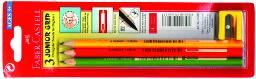 116503大三角鉛筆 3支入+削筆器