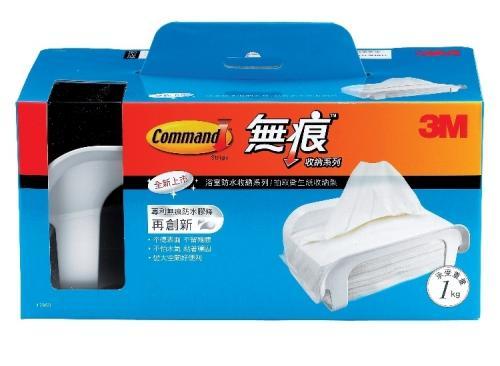 3M  17653 浴室防水無痕收納系列 衛生紙收納架