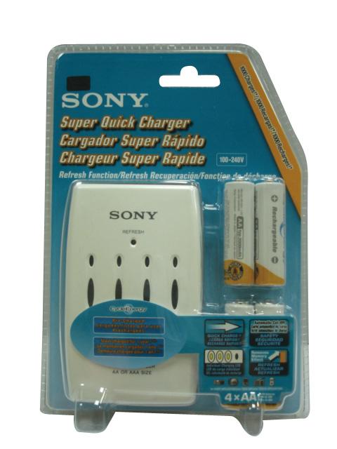 SONY 低自放電充電組(附3號電池4個)